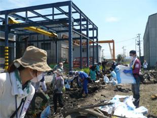 宮城県石巻市へ被災地でのボランティア活動